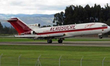 Vídeo: el momento en el que el avión de Aerosucre se estrella