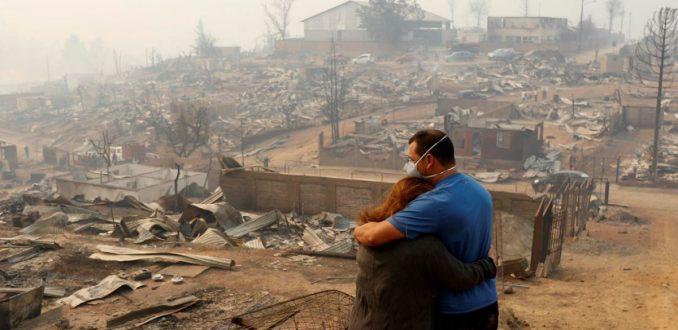 Confech denuncia falta de ayuda en cercanías de zonas afectadas por incendios