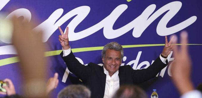 Candidato oficialista, Lenín Moreno, encabeza sondeos en Ecuador