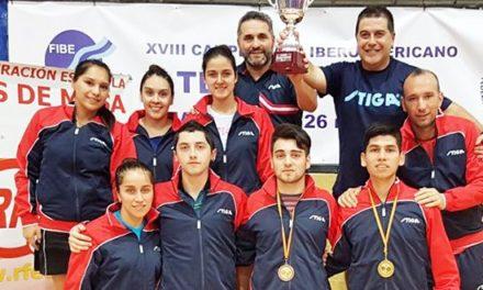 Selección chilena de tenis de mesa se titula campeona iberoamericana en Madrid