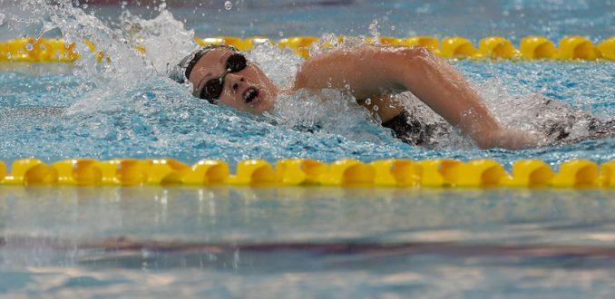Kristel Köbrich a la final de los 1500 metros en el Mundial de Natación de Hungría