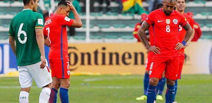Chile cae ante Bolivia y complica clasificación a Rusia