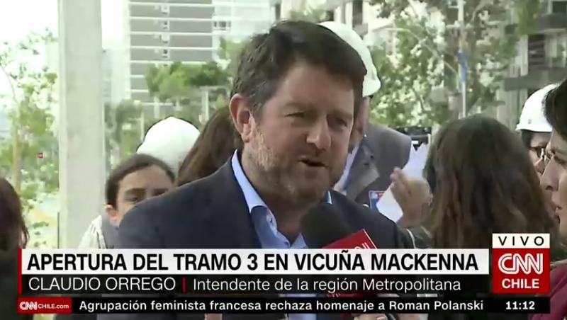Claudio Orrego criticó que Piñera ofrezca obras públicas que ya están inauguradas