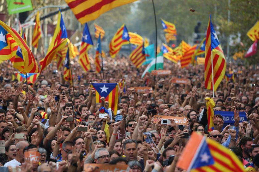Cataluña declaró su independencia