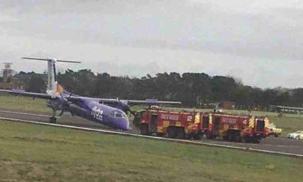 Pánico en el aire: un avión aterrizó de emergencia sin tren delantero
