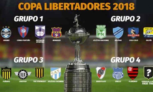 Así quedaron conformados los grupos de la Copa Libertadores 2018