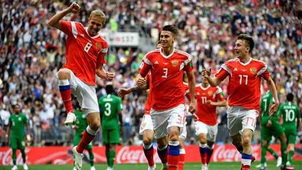 Rusia abre con una goleada la Copa del Mundo 2018