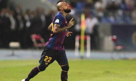 Arturo Vidal consigue su primer título con Barcelona