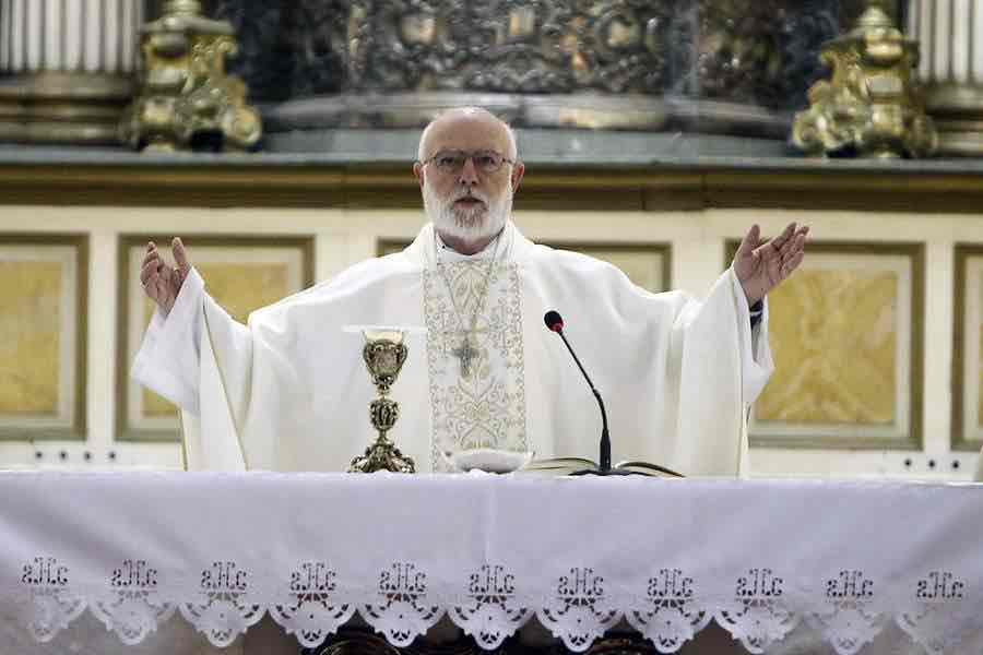Monseñor Celestino Aós asume como administrador de la Arquidiócesis de Santiago